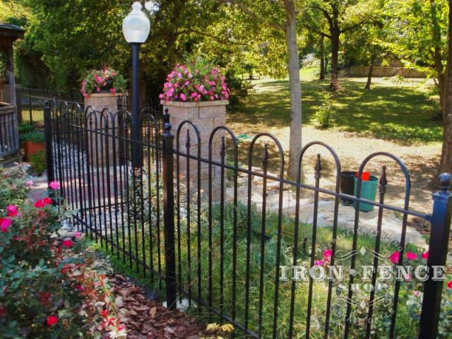 Wrought Iron Hoop and Picket Fence